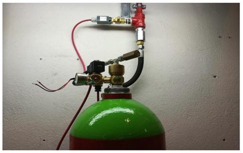 Progettazione e fornitura impianto di spegnimento a gas inerti per sala CED e sala UPS